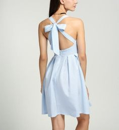 Cross Strap Tie-bow Backless Dress