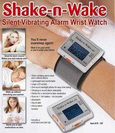 With Shake n' Wake Silent Alarm Clock, you can use a reliable alarm clock every morning without disturbing others. It is also a great alarm wristband for deaf and hearing impaired folks.