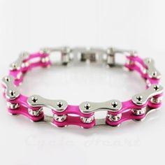 Motocross bracelet Bling Source by Bike Chain Bracelet, Chain Bracelets, Necklaces, Motocross Love, Pink Bike, Dirt Bike Girl, Biker Chic, Jewelry Accessories, Creations