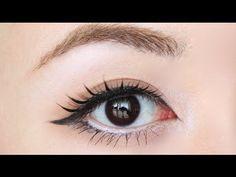 Natural Gal/Gyaru Eye Makeup - YouTube