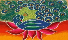 indian peacock art - Google Search
