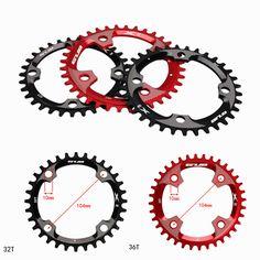 GUB X11 Round Single Chain Ring 32T 34T 36T Bicycle Chainring BCD 104mm Ultralight Crankset Round Chainwheel plus-minus gear