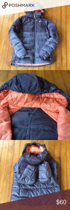 REI Kid's L 14-16 Stratocloud Hoodie Puffer Jacket This is in super nice shape because it's hardly been worn. REI girl's size L (14-16z). Stratocloud Hoodie. Had both primaloft and down insulation. (So, stays warm even when wet!) Water repellent. Wind-proof to 60 mph. Color is a purple-y gray. Great winter jacket but also very packable. Would fit women's XS as well. REI Jackets & Coats Puffers