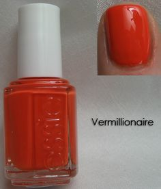 This Shade is so pretty for summer. Essie Vermillionaire