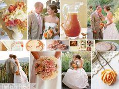 Свадьба персикового цвета