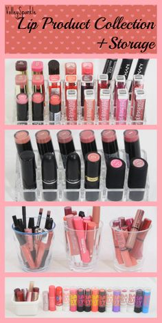 VolleySparkle Lip Product Collection + Storage