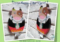 Patère en bois, vache tyrolienne.  #artdecosalamandre #patereenbois #creationpersonnalisee #tyrol #vachetyrolienne