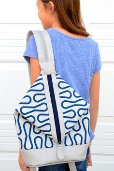 ikat bag: Zip A Bag Chapter 10: Diamond-Front Backpack