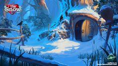 Background 01 The Snow by RHADS.deviantart.com on @deviantART