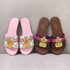 Louis Vuitton lv new TRUNK slides sandals slippers