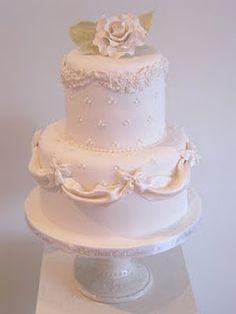 beautiful bridal shower or small wedding cake