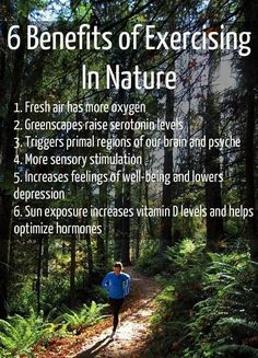 Exercising in nature / healthy living