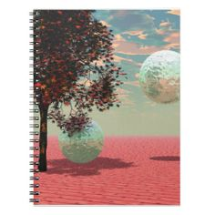 Peach Fantasy – Teal and Apricot Retreat notebook