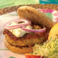 Crab Cake Burgers from Eatingwell.com