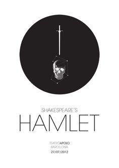 """A poster for William Shakespeare's """"Hamlet"""""""