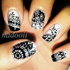 155 Best Lace Henna Sheer Nails Images Pretty Nails Enamels Hair
