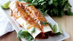 25-Minute Butternut Squash Black Bean Enchiladas - Happy Healthy Mama Butternut Squash Enchiladas, Black Bean Enchiladas, Happy Healthy, Black Beans, Fresh Rolls, Zucchini, Food Ideas, Homemade, Dinner