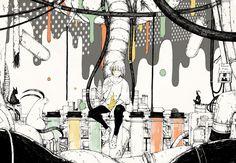 Outsider / E ve Hot Anime Boy, Anime Guys, Eve Music, Handsome Anime, Japanese Artists, Art Studies, Art Inspo, Cool Art, Anime Art