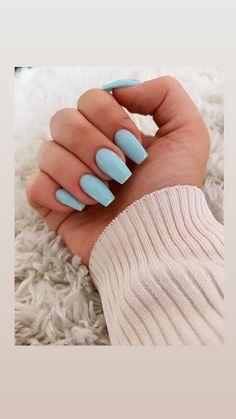 Gel Nail Art, Gel Nails, Acrylic Nails, Nail Polish, Beauty Nails, Beauty Makeup, Bleu Pastel, Acrylic Nail Designs, Manicure And Pedicure