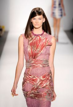 A model walks the runway at the Guli Collections Spring 2011 fashion show during Mercedes-Benz Fashion Week at The Studio at Lincoln Center on September 10, 2010 in New York City.