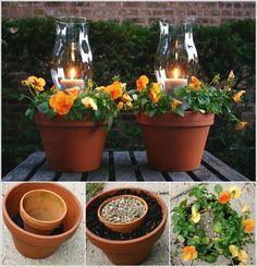 Terracotta Candle Planters