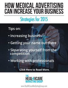 Strategic medical advertising can increase business and brand awareness. | http://healthcaremarketinggroup.com/blog/medical-advertising