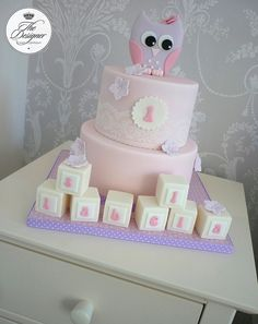 Owl 1st birthday cake by The Designer Cake Company, via Flickr
