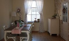Country style dining room with wallpaper made from old book pages | live from IKEA FAMILY
