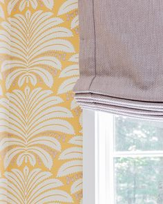 This is the style I would like to use for roman shade--with hemstitch for a clean finish.