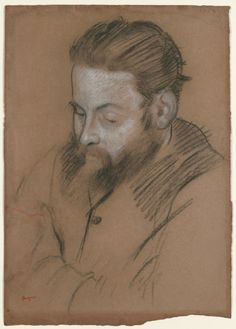 Diego Martelli / by Edgar Degas / 1879 / charcoal and white chalk