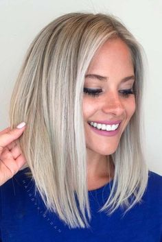 #Color Trendy Hair Color : Pretty Shades of Platinum Blonde Hair ★ See more: lovehairstyles.co...