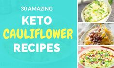 30 Amazing Low Carb and Keto Recipes using Cauliflower [Snacks & Meals] Recipe Using Cauliflower, Keto Cauliflower, Appetizer Recipes, Keto Recipes, Healthy Recipes, Healthy Food, Donut Recipes, Dessert Recipes, Appetizers