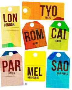 destination travel tags print