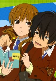 Romance is one of the most popular anime genres. Anime is wel known for being able to expres and mimic real life romance through characters. Shizuku And Haru, Shizuku Mizutani, Shoujo Ai, Gekkan Shoujo Nozaki Kun, My Little Monster, Little Monsters, Top 10 Romance Anime, Poster Anime, Ahegao Manga