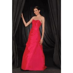 Soft Satin A-line Sweetheart Fall Sleeveless Ruching Empire Red Special Occasion Dresses