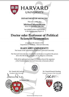 doktortitel kaufen harvard university berufszertifikate diplome doctor professor honorary degree certificate harvard