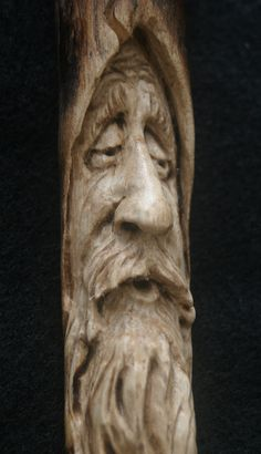 Carved Woodspirit Wizard Tree Face Ornament Talisman Old man Fantasy Elf gift Spirit of the Woods Wall Art Decor by TJKleens on Etsy