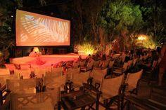 Santorini, Greece - Open Air Cinema Kamari