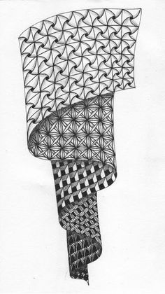 Cut'n It Up... And Sewing It Back Together!: Repetition, grid style Zentangle!