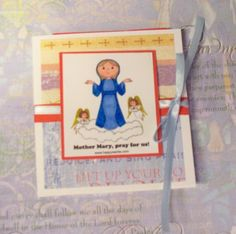 Front of spiritual bouquet card.