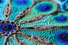 Peacock Feathers.... inspired by the gorgeous colours of peacock feathers - crochet - utterly gorgeous
