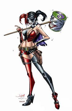 Harley Quinn Drawing, Harley Quinn Comic, Gotham Girls, Gotham Batman, Batman Art, Batman Robin, Dc Comics, Harely Quinn, Hq Dc