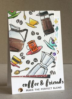 card coffee cup cups espresso beans Altenew Coffee Love, Coffee and friends make a perfect blend - A Clean and Simple Card Challenge Coffee Talk, Coffee Love, Coffee Cup, Family Gift Baskets, Altenew Cards, Coffee Cards, Love Stamps, Friendship Cards, Cool Cards