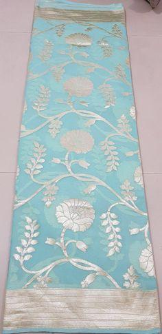 Pure Handloom banaras georgette silk Saree Ph.9849114333 Banarsi Saree, Kanjivaram Sarees, Georgette Sarees, Simple Sarees, Trendy Sarees, Soft Silk Sarees, Cotton Saree, Ethnic Sarees, Indian Sarees