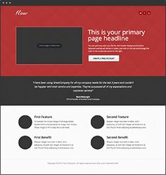 Flow  A click-through template with several color options. The design uses generous white space to make it easy to read.