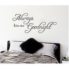 ZOOYOO® removable colorful cute always good night 3D wall sticker home decor wall stickers for kids/lbed room – USD $ 9.99