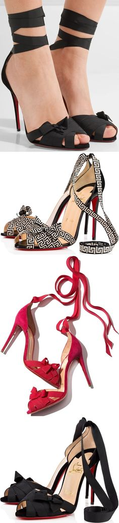 Christian Louboutin 'Christeriva' Sandals With Delicate Grosgrain Ribbons