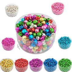 6MM 100 pcs/lot Loose Beads Small Jingle Bells Christmas Decoration Gift Free Shipping Colorful/Mix Color ly-in Christmas from Home & Garden on Aliexpress.com | Alibaba Group