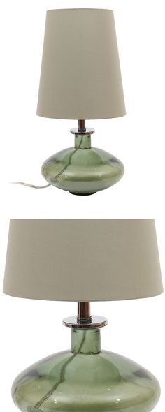 A stylish silhouette and recycled glass creates an earthy presence for the Elemental Table Lamp. We love its graceful curves and hint of color, all accentuated with a chic gray tapering shade. This lam...  Find the Elemental Table Lamp, as seen in the #SoftSideofMidCentury Collection at http://dotandbo.com/collections/soft-side-of-mcm?utm_source=pinterest&utm_medium=organic&db_sku=124712