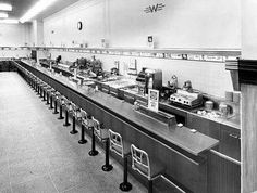 Lunch counter in a Philadelphia Woolworth's.